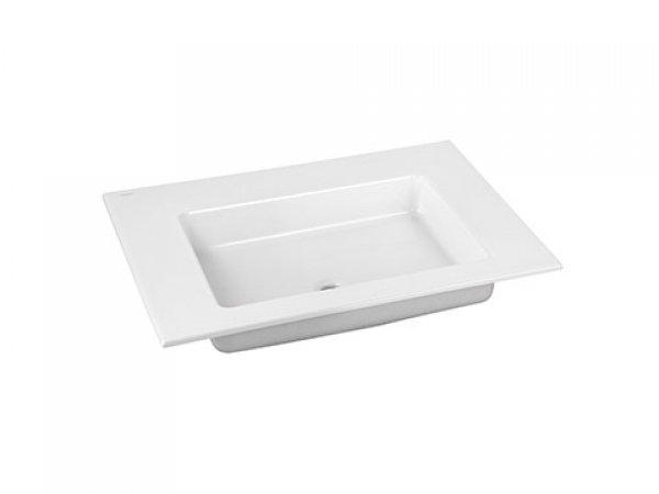 Keuco Royal 60 Keramik-Waschtisch 32140, 705x17x538mm, ohne Hahnlochbohrung, weiß