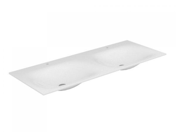 Keuco Edition 11 Varicor Doppelwaschtisch 31280, 1750x535mm, ohne Hahnlochbohrung, weiß,