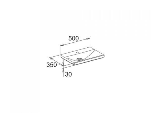 keuco royal reflex mineralgusswaschtisch 34091 500mm. Black Bedroom Furniture Sets. Home Design Ideas