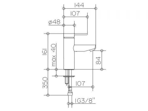keuco planblue einhebel waschtischmischer90 53902 ohne ablaufgarnitur. Black Bedroom Furniture Sets. Home Design Ideas