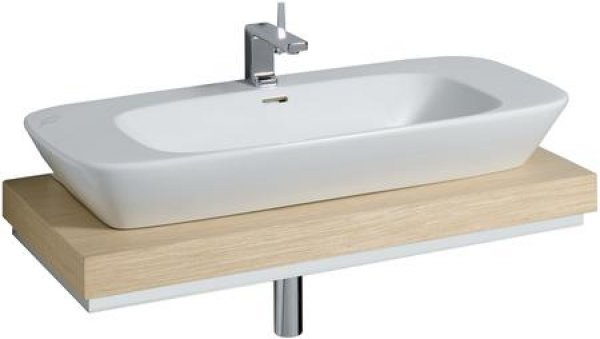 keramag silk waschtischplatte 816200 100x10x47cm ausschnitt mittig. Black Bedroom Furniture Sets. Home Design Ideas