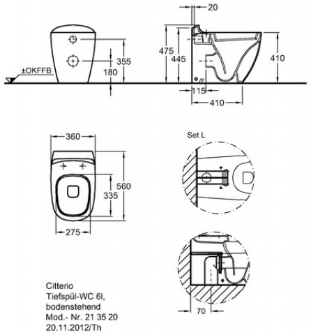 keramag citterio tiefsp l wc 213560 sp lrandlos 6l. Black Bedroom Furniture Sets. Home Design Ideas