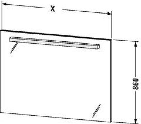 duravit delos spiegel mit beleuchtung 7343 sensor links 1000mm. Black Bedroom Furniture Sets. Home Design Ideas