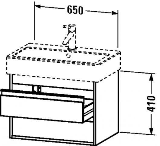 Duravit Ketho Waschtischunterschrank wandhängend 6624, 2 Schubkästen, 650mm, für Vero, Farbe (Front/Korpus): Pine Terra Dekor