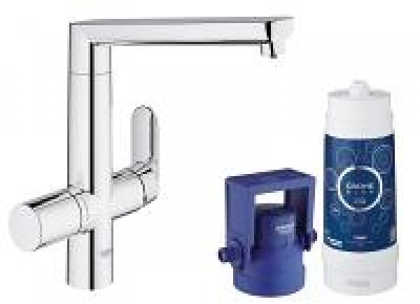 Grohe Blue K7 Pure Starter Kit 31344, Farbe: Supersteel