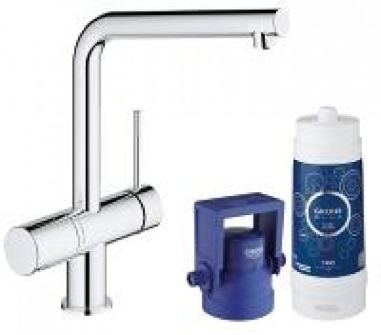Grohe Blue Minta Pure Starter Kit 31345, Farbe: Supersteel