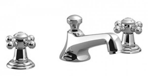 Dornbracht Madison three-hole basin mixer, with pop-up waste, 135 mm projection, 20700360