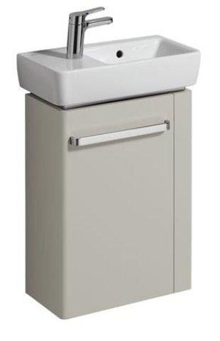 keramag handwaschbecken unterschrank renova nr 1 comprimo neu hh re 448x604x222mm hellgrau. Black Bedroom Furniture Sets. Home Design Ideas