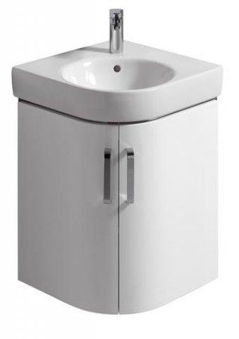 keramag eck handwaschbecken unterschrank renova nr 1 comprimo neu 482x605x482mm wei matt wei