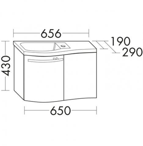 burgbad sinea g ste bad mineralguss waschtisch becken links. Black Bedroom Furniture Sets. Home Design Ideas