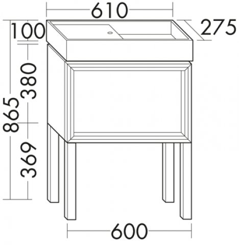 burgbad uomo g ste bad mineralguss waschtisch unterschrank mit f ssen. Black Bedroom Furniture Sets. Home Design Ideas