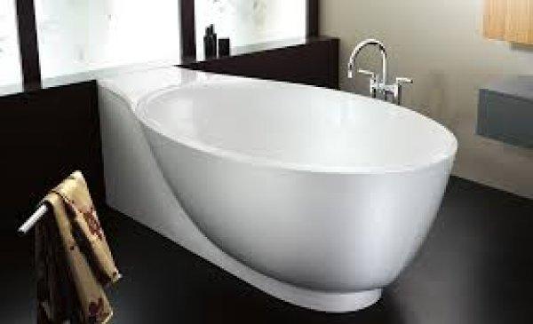 Burgbad pli mineralguss badewanne freistehend 203x103 cm for Badewanne freistehend mineralguss