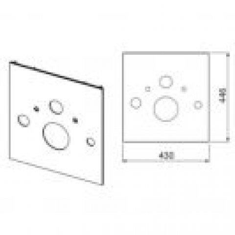 tecelux wc glasplatte f r dusch wc. Black Bedroom Furniture Sets. Home Design Ideas