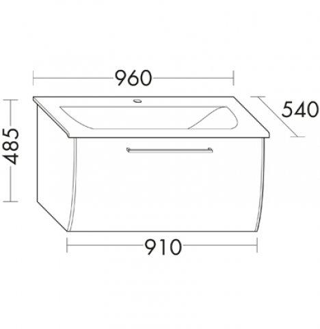 burgbad cala neu mineralguss waschtisch inklusive wtu breite 960mm. Black Bedroom Furniture Sets. Home Design Ideas