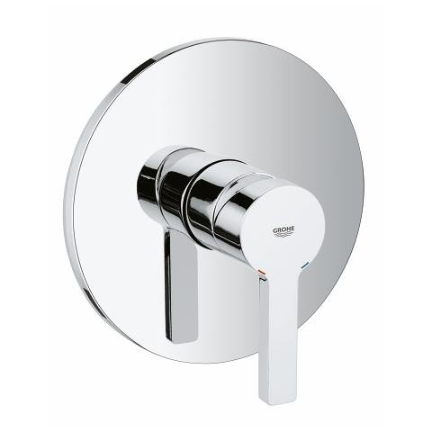Large Linear Single Hand Shower Mixer, Round Rosette