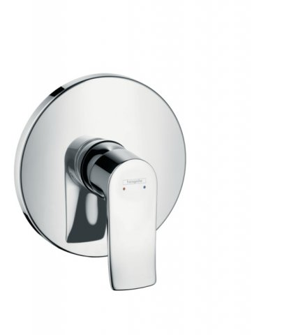 Hansgrohe Metris Single lever flush-mounted shower mixer, round, chrome 31685000