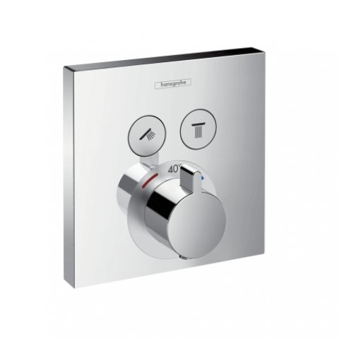 hansgrohe showerselect thermostat unterputz f r 2 verbraucher. Black Bedroom Furniture Sets. Home Design Ideas