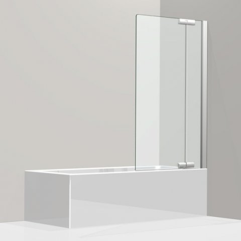 Koralle swing door for bathtub, with fixed panel, S800 BPFA 80 R, stop right, 790-805x1500mm