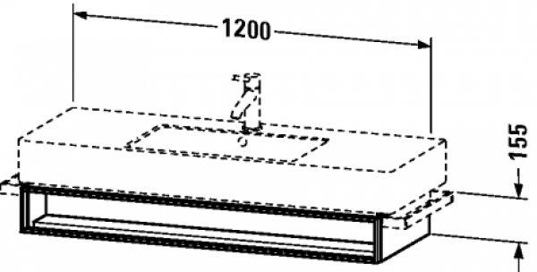 duravit vero waschtischunetschrank wandh ngend 6015 1 offenes fach. Black Bedroom Furniture Sets. Home Design Ideas