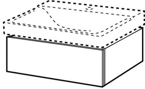 keramag xeno 2 waschtischunterschrank 807160 580x220x462mm wei lack. Black Bedroom Furniture Sets. Home Design Ideas