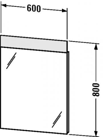 duravit vero spiegel mit beleuchtung 7267 600mm. Black Bedroom Furniture Sets. Home Design Ideas