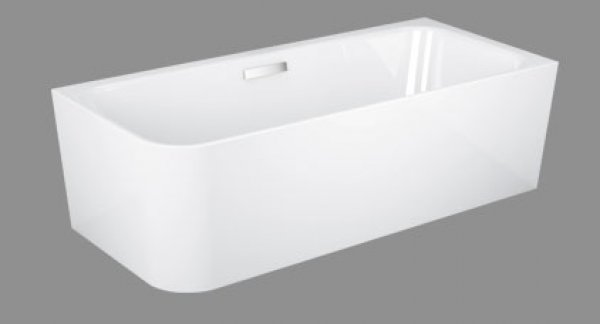 Bette Art V corner bathtub, 185x80cm, 2 back slopes, 3480 CELHK, right corner
