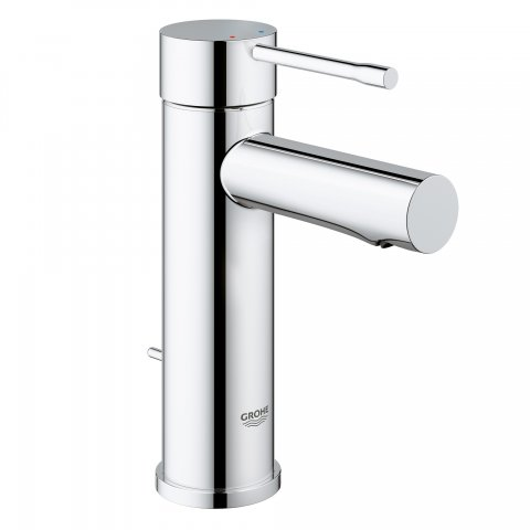 Grohe Essence Single lever basin mixer DN 15, S-size, single-hole installation, with waste fitting