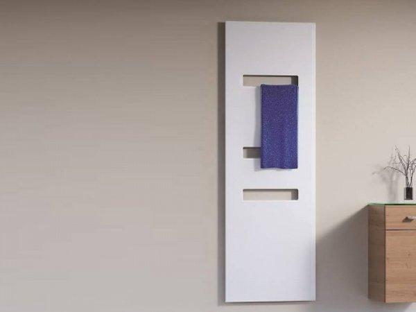 HSK Badheizkörper Atelier Highline Breite: 62,0cm, Höhe: 186,0 cm, Glasfront weiß, Heizkörper weiß matt