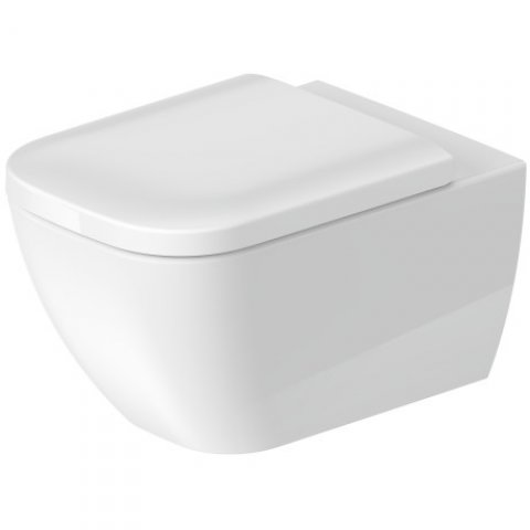 Duravit Happy D.2 54cm wall-mounted WC, rimless, with concealed fixing (Durafix)