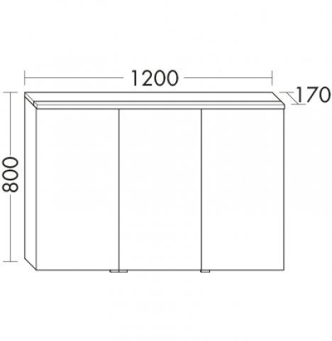 burgbad eqio spiegelschrank mit horizontaler led beleuchtung r 1200mm. Black Bedroom Furniture Sets. Home Design Ideas