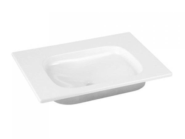 Keuco Royal Universe Keramik-Waschtisch 32751, 655x16x495 mm, weiß, ohne Hahnlochbohrung