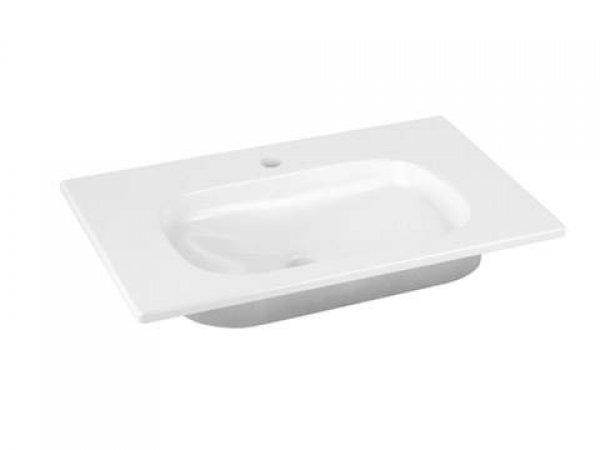 Keuco Royal Universe Keramik-Waschtisch 32751, 655x16x495 mm, weiß, für 1-Loch Armaturen