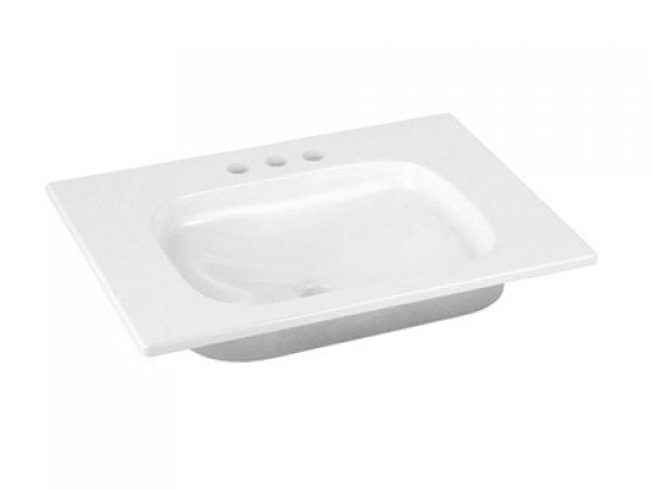 Keuco Royal Universe Keramik-Waschtisch 32751,655x16x495 mm, weiß, für 3-Loch Armaturen