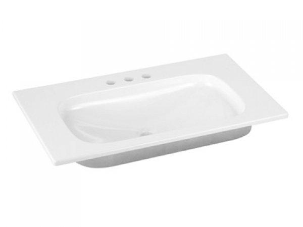 Keuco Royal Universe Keramik-Waschtisch 32761, 805x16x495 mm, weiß, für 3-Loch Armaturen