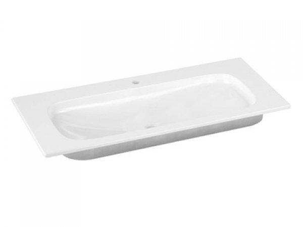 Keuco Royal Universe Keramik-Waschtisch 32771, 1005x16x495 mm, weiß, für 1-Loch Armaturen