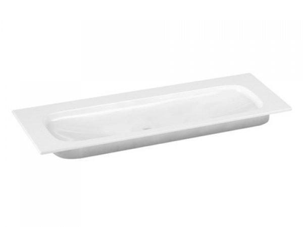 Keuco Royal Universe Keramik-Waschtisch 32781, 1305x16x495 mm, weiß, ohne Hahnlochbohrung