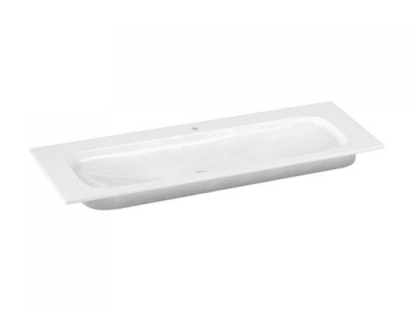 Keuco Royal Universe Keramik-Waschtisch 32781, 1305x16x495 mm, weiß, für 1-Loch Armaturen