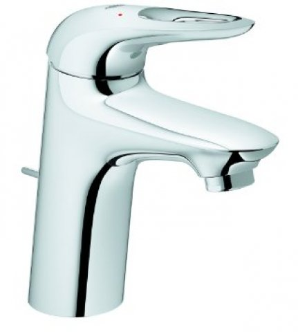 Grohe Eurostyle single lever basin mixer, S-size with waste, open lever handle