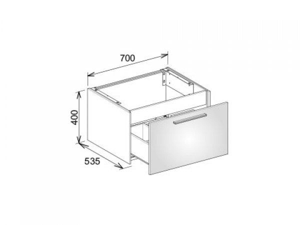 keuco royal 60 waschtischunterschrank 32141 1 frontauszug. Black Bedroom Furniture Sets. Home Design Ideas