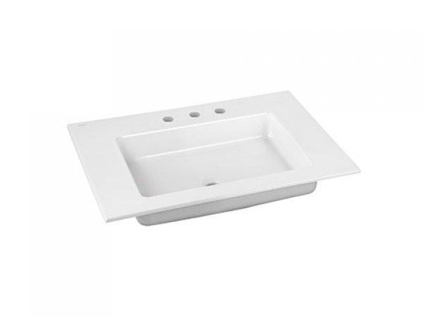 Keuco Royal 60 Keramik-Waschtisch 32140310703, 705x17x538 mm, für 3 Hahnlochbohrung, weiß