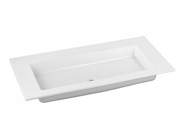 Keuco Royal 60 Keramik-Waschtisch 32150311000, 1055x17x538mm, ohne Hahnlochbohrung, weiß