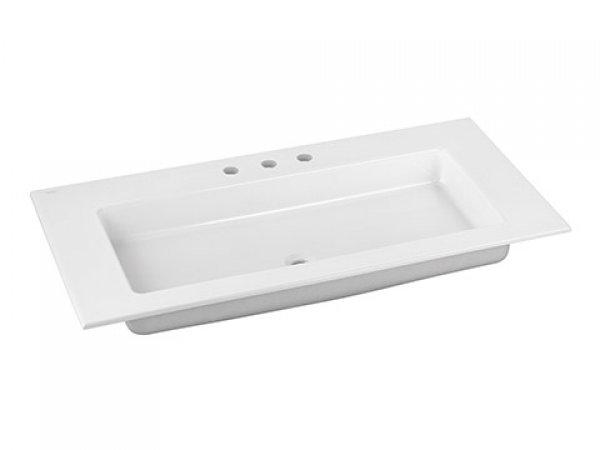 Keuco Royal 60 Keramik-Waschtisch 32150311003, 1055x17x538 mm, für 3 Hahnlochbohrung, weiß