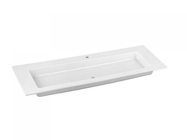 Keuco Royal 60 Keramik-Waschtisch 32160311401, 1405x17x538mm, für 1 Hahnlochbohrung, weiß