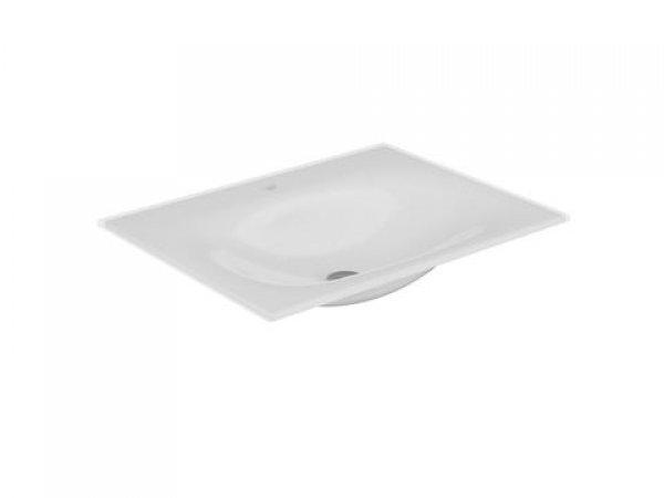 Keuco Edition 11 Keramik Waschtisch 31140, 705x17x538mm, mit 1-Loch Armaturen, weiß