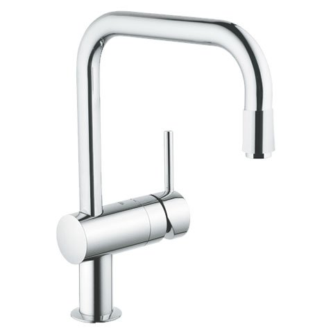 Grohe Minta single-lever sink mixer, U-shaped spout with pull-out mousse spout