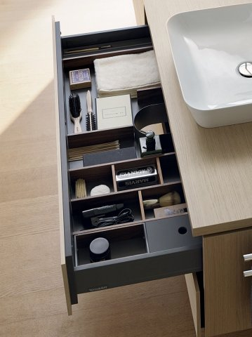 Duravit furnishing system, suitable for cabinet width 620mm, incl. siphon cut-out, for pull-out