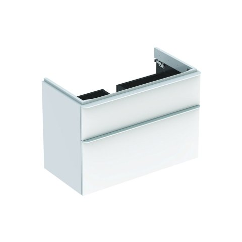 Geberit Smyle Square Vanity unit, 500.354., 884x617x470mm, with 2 drawers