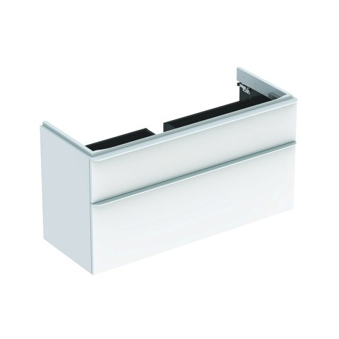 Geberit Smyle Square Vanity unit, 500.355., 1184x617x470mm, with 2 drawers