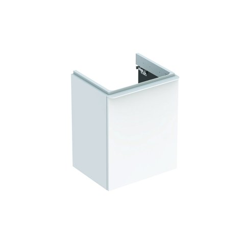 Geberit Smyle Square Hand-rinse basin Vanity unit, 500.350., 442x617x356mm, with 1 door, right opening