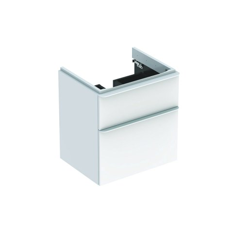 Geberit Smyle Square Vanity unit, 500.352., 584x617x470mm, with 2 drawers